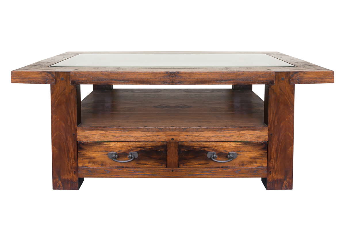 Fery glasstop coffee table leyon collections teak for Coffee tables singapore
